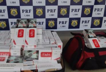 Passageiro de ônibus é flagrado transportando 19 mil cigarros contrabandeados