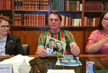Em live, Bolsonaro se esquiva de pergunta sobre pressão de Braga Netto por voto impresso | Reprodução | Redes Sociais