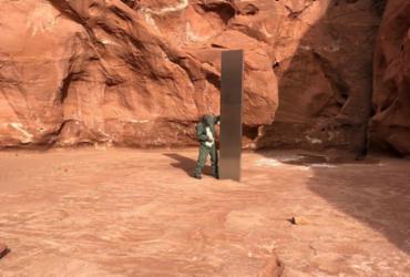 Monolito misterioso é encontrado em deserto nos EUA; internautas criam teorias | Reprodução | Instagram | Departamento de Defesa Pública de Utah