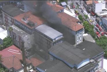 Morre a 8° vítima de incêndio em Hospital Federal de Bonsucesso   Reprodução   Globo News