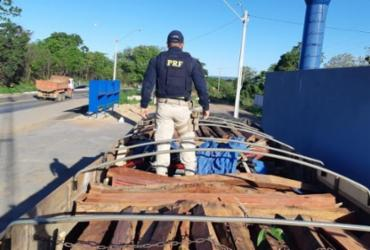 Madeira serrada que seria transportada irregularmente é apreendida no oeste da Bahia