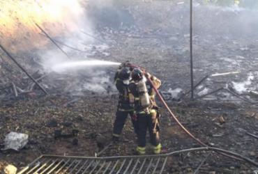 Incêndio em fábrica de Simões filho gera prejuízo de cerca de R$ 10 milhões   Divulgação   CBMBA