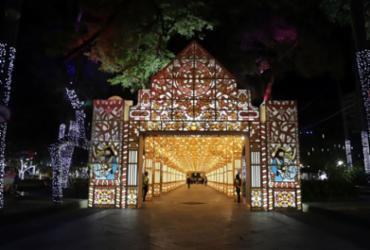 Decoração de Natal do Campo Grande é inaugurada com novas regras de acesso | Uendel Galter | Ag. A TARDE