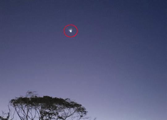 Clarão visto no céu da Bahia é de foguete lançado pela China | Reprodução | Redes Sociais
