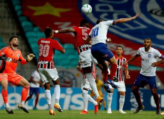 Desfalcado, Bahia perde para o São Paulo e cai a invencibilidade na Fonte | Felipe Oliveira / EC Bahia