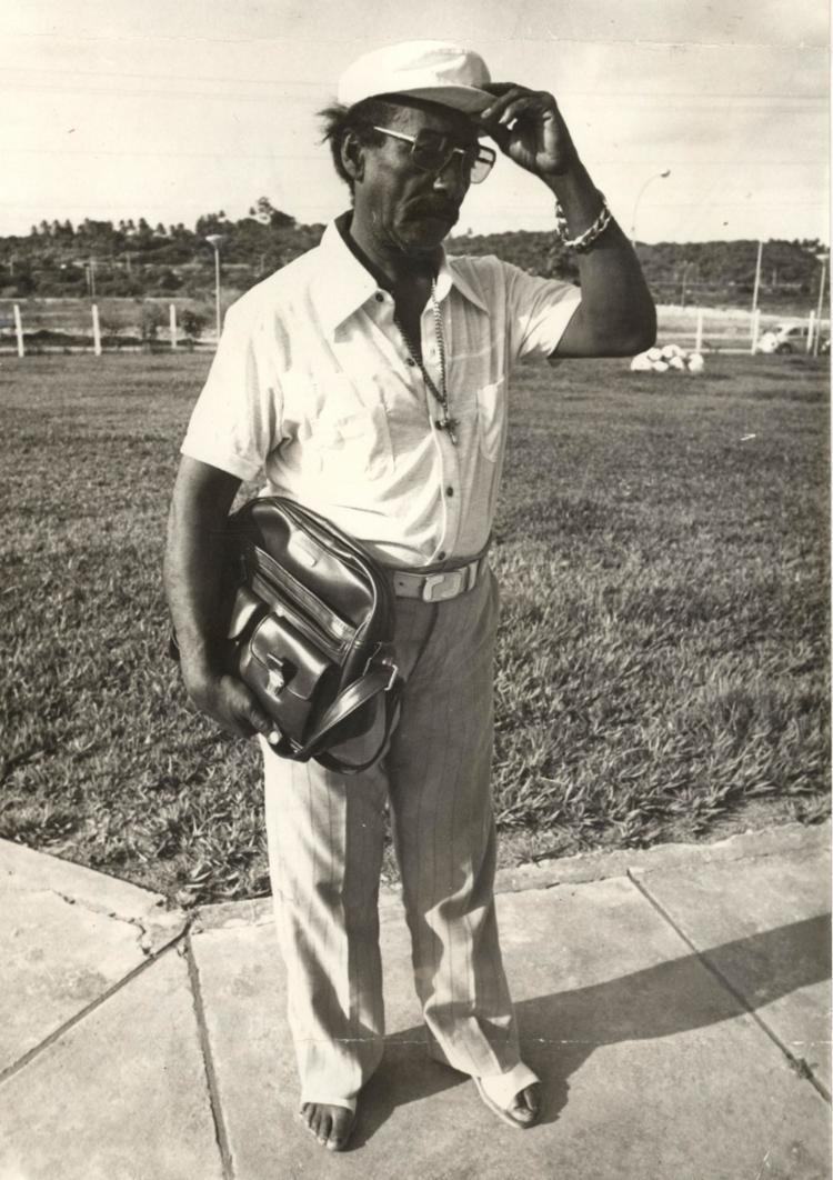 Pai Rufino, na então nova sede de A TARDE | Foto: Arquivo A TARDE | 1.06.1979