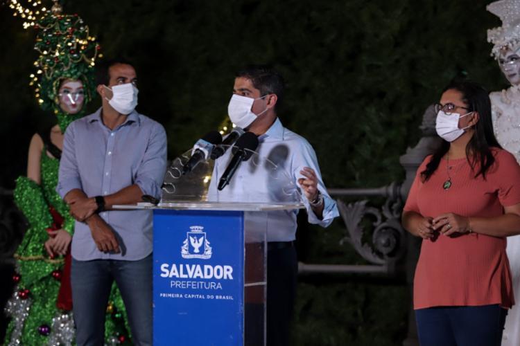 ACM Neto rebateu as críticas feita pelo senador Jaques Wagner - Foto: Uendel Galter / Ag. A Tarde