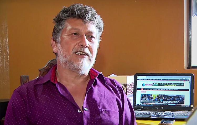O jornalista Léo Veras foi um dos 44 profissionais assassinados em 2020 | Foto: Reprodução | Record TV - Foto: Reprodução | Record TV