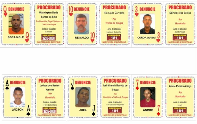 Criminosos possuem mandados de prisão expedidos pelos crimes de homicídio e tráfico de drogas, na Bahia | Foto: Divulgação | SSP - Foto: Divulgação | SSP