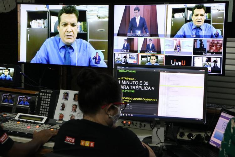 Debate com os candidatos à prefeitura de Conquista foi realizado de forma remota - Foto: Ascom | Irdeb