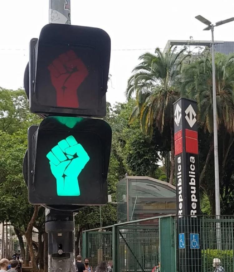 Semáforos foram colocados em pontos estratégicos e simbólicos da memória negra   Foto: Divulgação   Prefeitura de São Paulo - Foto: Divulgação   Prefeitura de São Paulo