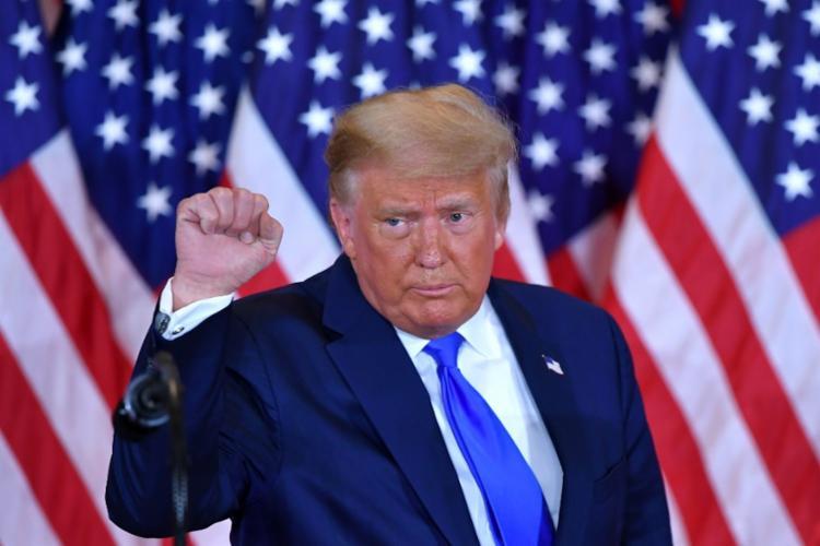 Donald Trump, o presidente dos EUA, ameaçou contestar resultado das eleições na Justiça - Foto: AFP