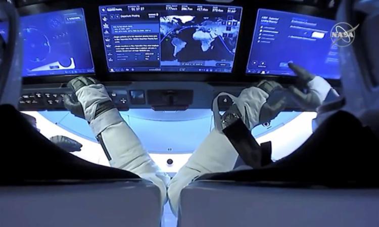 Cápsula levou quatro astronautas que ficarão seis meses na estação | Foto: Divulgação | Nasa - Foto: Divulgação | Nasa
