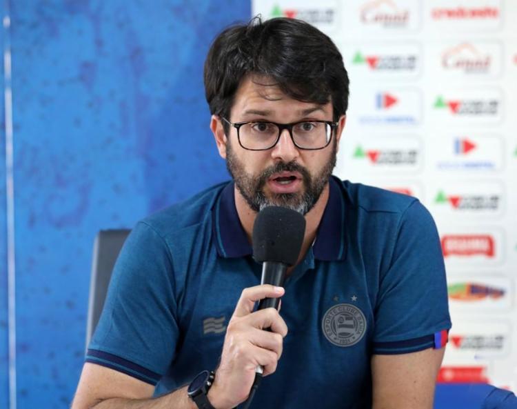 Bellintani ainda disse ponderar quanto a mudança no cargo de diretor de futebol do clube   Foto: Felipe Oliveira   EC Bahia - Foto: Felipe Oliveira   EC Bahia