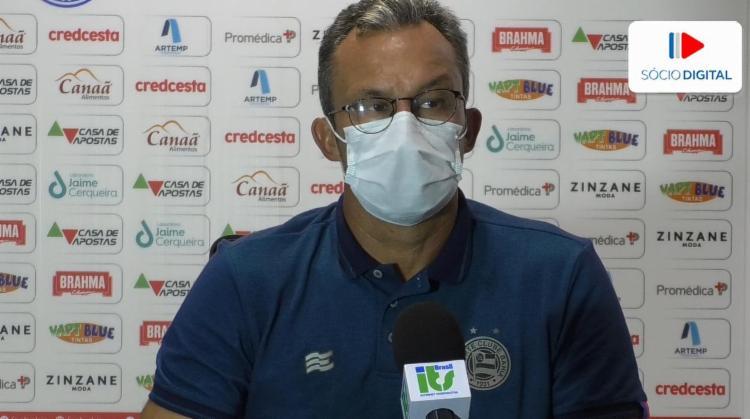 Treinador lamentou mudança de postura do time | Foto: Reprodução | E.C.Bahia - Foto: Reprodução | E.C.Bahia