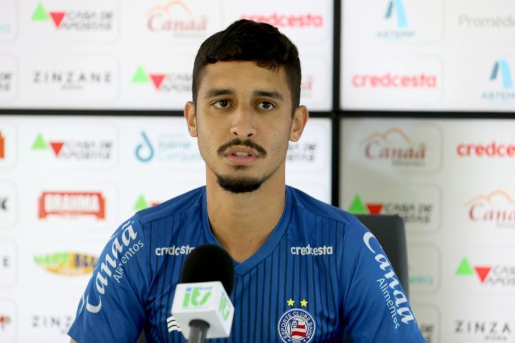 Danielzinho declarou que o grupo está confiante na recuperação do time | Foto: Felipe Oliveira | E.C.Bahia - Foto: Felipe Oliveira | E.C.Bahia