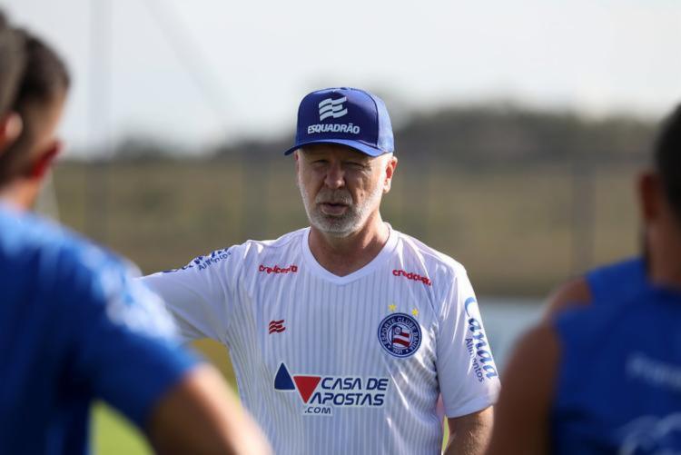 Apesar da derrota, treinador avaliou partida positivamente   Foto: Felipe Oliveira   E.C.Bahia - Foto: Felipe Oliveira   E.C.Bahia