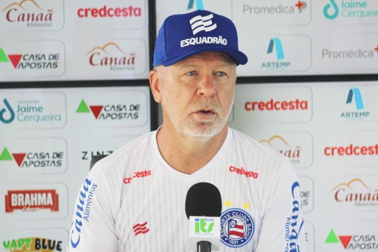 Treinador explicou escolhas em triunfo contra o Coxa | Foto: Felipe Oliveira | E.C.Bahia - Foto: Felipe Oliveira | E.C.Bahia