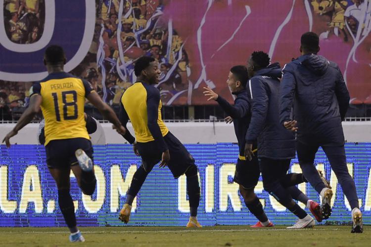 O Equador alcançou sua terceira vitória consecutiva   Foto: Rodrigo Buendia   AFP - Foto: Rodrigo Buendia   AFP