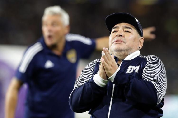 O presidente Bolsonaro não se pronunciou sobre a morte de Maradona. - Foto: Alejandro Pagni   AFP