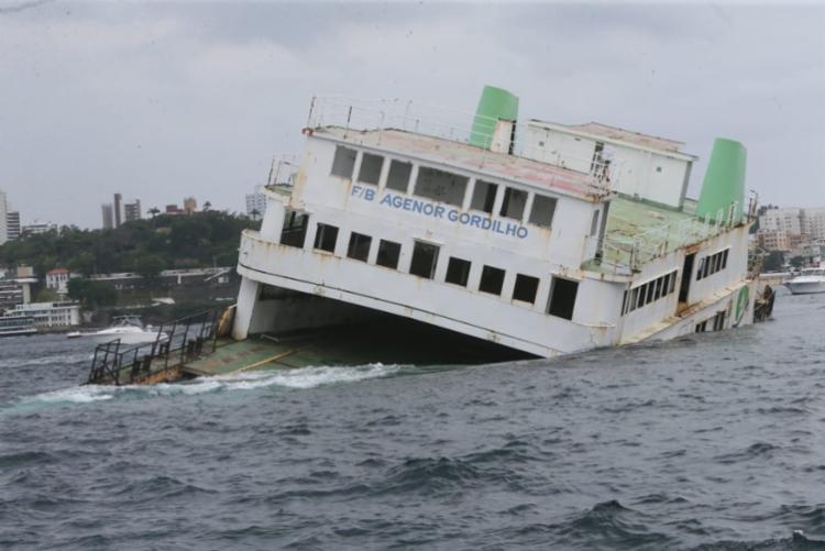 O processo de naufrágio foi capitaneado com o objetivo de fomentar o turismo de mergulho - Foto: Camila Souza   GOVBA