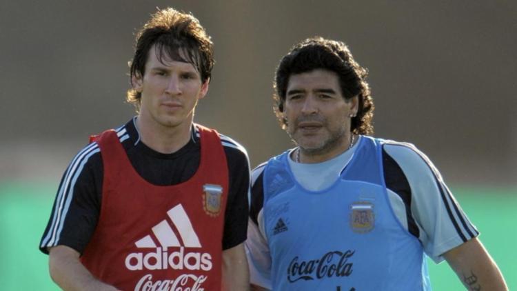Diego Maradona foi técnico de Messi na seleção da Argentina   Foto: Reprodução   Instagram - Foto: Reprodução   Instagram