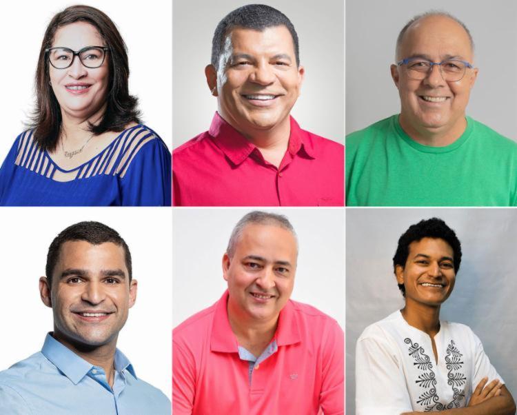 Suzana Ramos - primeira à esq. -, candidata a prefeita do PSDB, é favorita de 50% | Foto: Montagem A TARDE - Foto: Montagem A TARDE