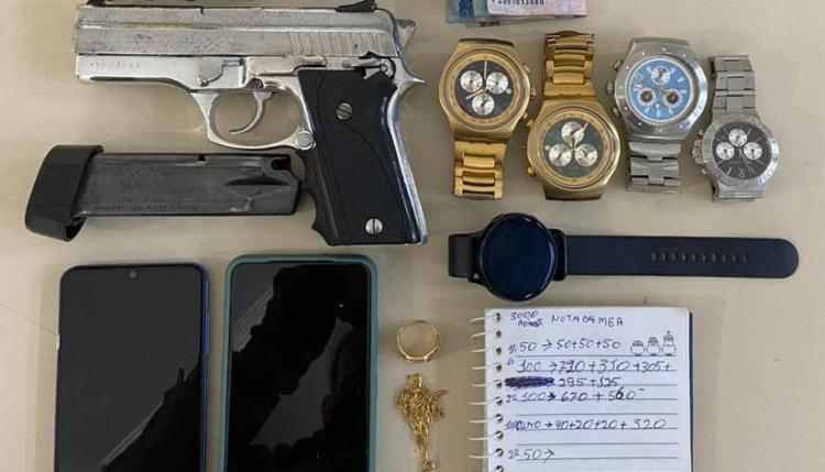 Material foi encontrado com o suspeito | Foto: Divulgação | SSP