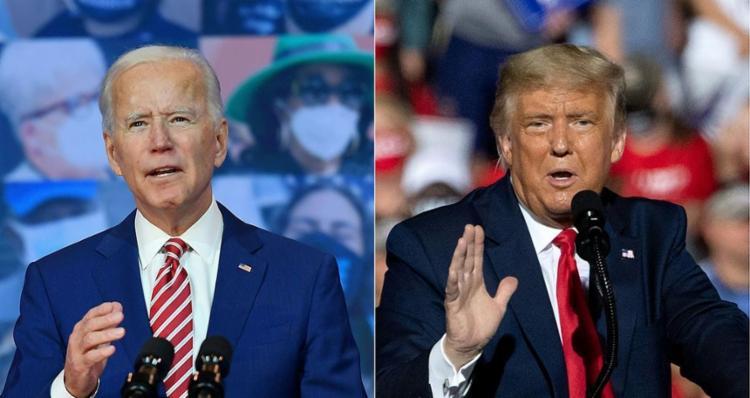 Biden critica as declarações sem provas de Trump de que as eleições foram fraudadas   Fotos: Saul Loeb e Angela Weiss   AFP - Foto: Saul Loeb e Angela Weiss   AFP