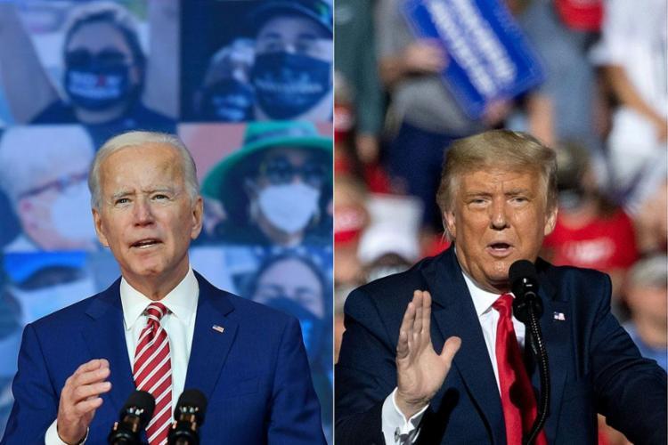 Trump disputa a reeleição contra o democrata Joe Biden | Fotos: Saul Loeb e Angela Weiss | AFP - Foto: Saul Loeb e Angela Weiss | AFP
