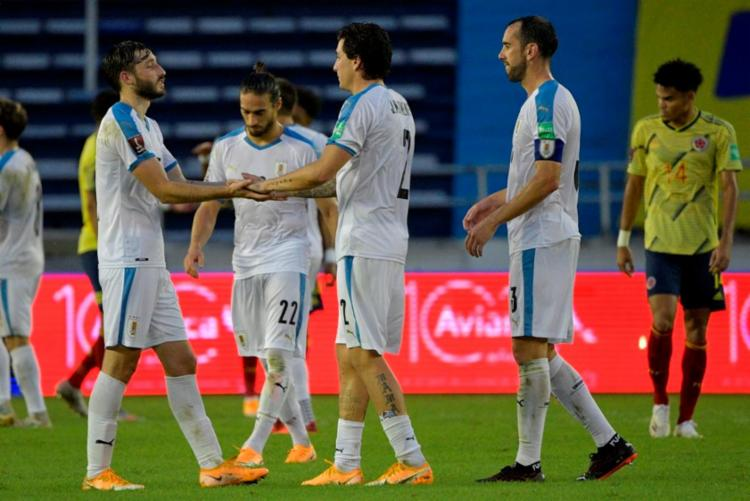 Antes do duelo com a seleção brasileira, os uruguaios já haviam anunciado outros três casos no time | Foto: Raul Arboleda | AFP - Foto: Raul Arboleda | AFP