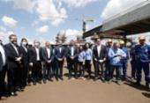 Bolsonaro visita obras da segunda ponte entre Brasil e Paraguai | Foto: Alan Santos | PR