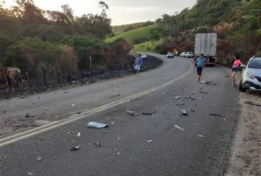 Condutor morre e duas pessoas ficam feridas em acidente na BR-420