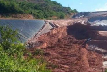 Deslizamento em área próxima de barragem provoca prejuízo em Jacobina