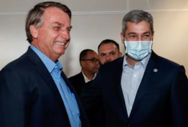 Bolsonaro e presidente do Paraguai visitam obra de ponte na fronteira | Divulgação