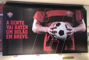 Paulo Carneiro divulga possível logo da marca própria do Vitória | Reprodução