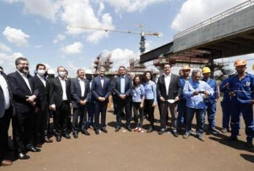 Bolsonaro visita obras da segunda ponte entre Brasil e Paraguai | Alan Santos | PR