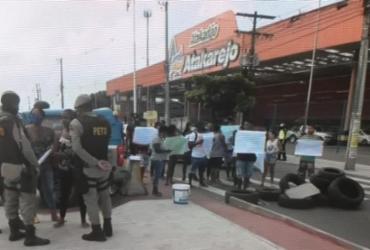 Protesto no Lobato deixa trânsito congestionado na Suburbana | Reprodução | TV Bahia