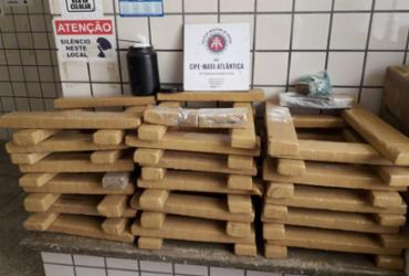 Dupla é presa com 98 quilos de maconha em Teixeira de Freitas