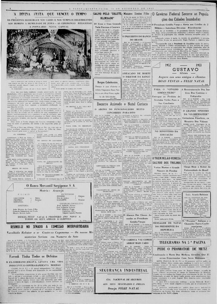 Em 24/12/1952, jornal celebra a volta dos presépios