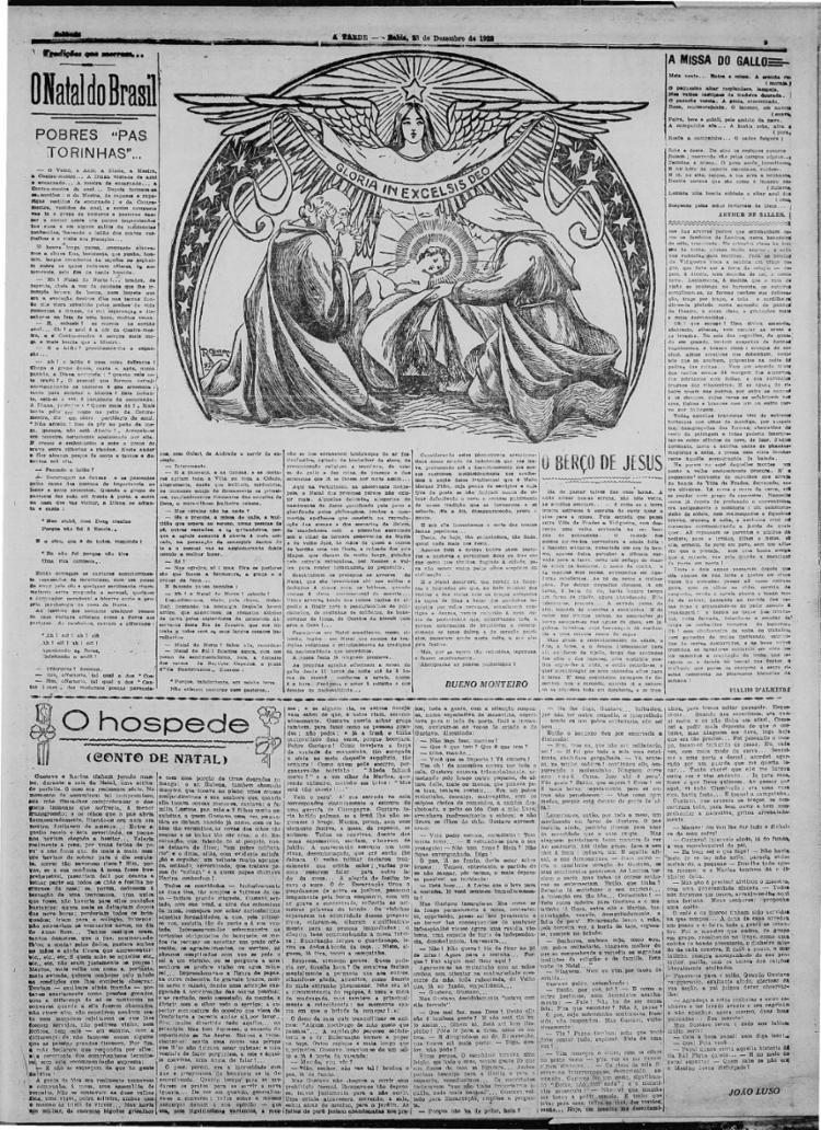 Em 23/12/1922, relatos apresentam nostalgias sobre as celebrações de Natal mais antigas