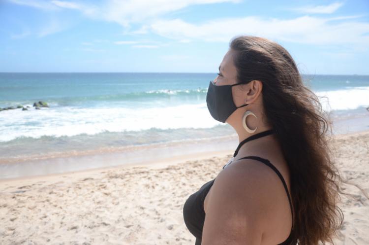 Moradora da Barra, Litiane vai virar o ano em casa | Foto: Alex Oliveira | Ag. A TARDE