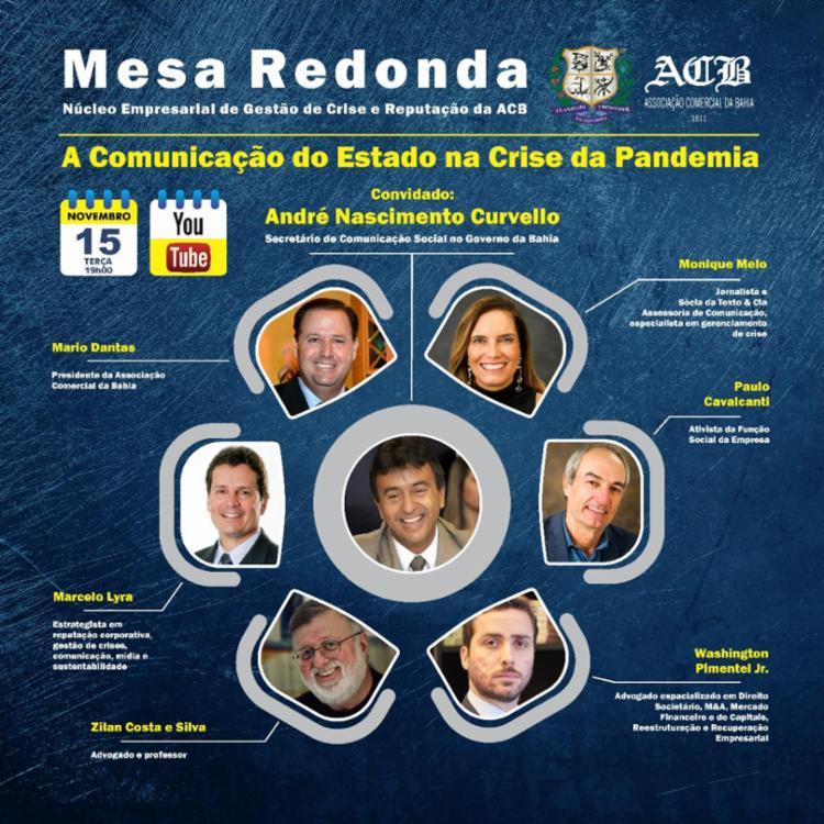 Mesa Redonda vai contar com participação do secretário André Curvello