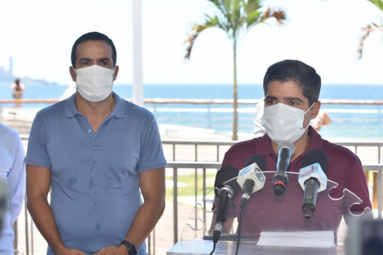 Prefeito também informou que a orla da Barra será interditada a partir das 17h do dia 31 | Foto: Max Haack | Secom - Foto: Max Haack | Secom