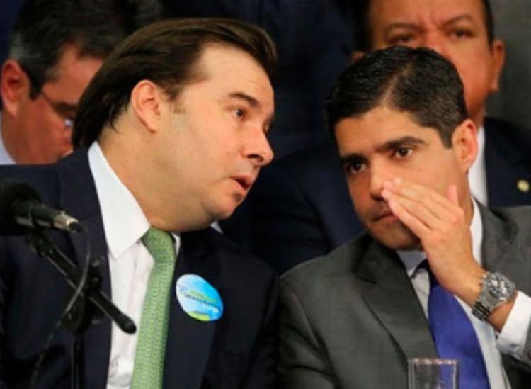 Bloco do presidente da Casa, Rodrigo Maia, vem angariando partidos para vencer disputa contra Arthur Lira (PP) - Foto: Foto