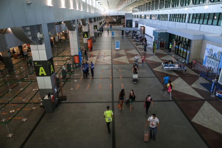 O projeto tem como objetivo tornar mais eficiente o processo de embarque e mais seguras as viagens aéreas | Foto: Raphael Muller | Ag. A TARDE | 9.9.2020 - Foto: Raphael Muller | Ag. A TARDE | 9.9.2020