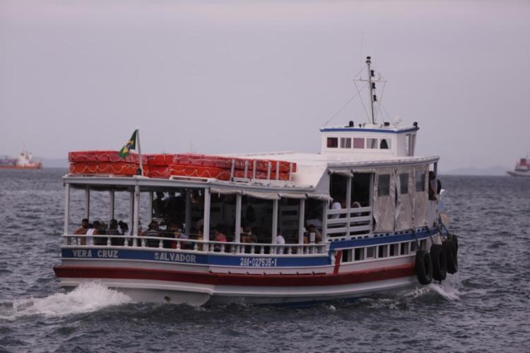 Suspensão será das 10h30 às 12h, segundo informações da Associação dos Transportadores Marítimos da Bahia (Astramab) I Foto: Olga Leiria | Ag. A TARDE - Foto: Olga Leiria | Ag. A TARDE