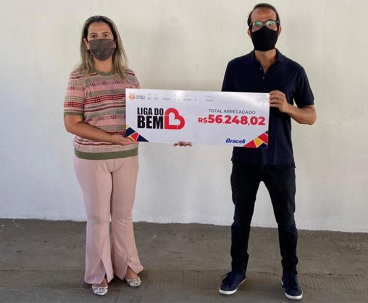 Colaboradores arrecadaram voluntariamente recursos a fim de contribuir com a Liga do Bem | Foto: Divulgação - Foto: Divulgação
