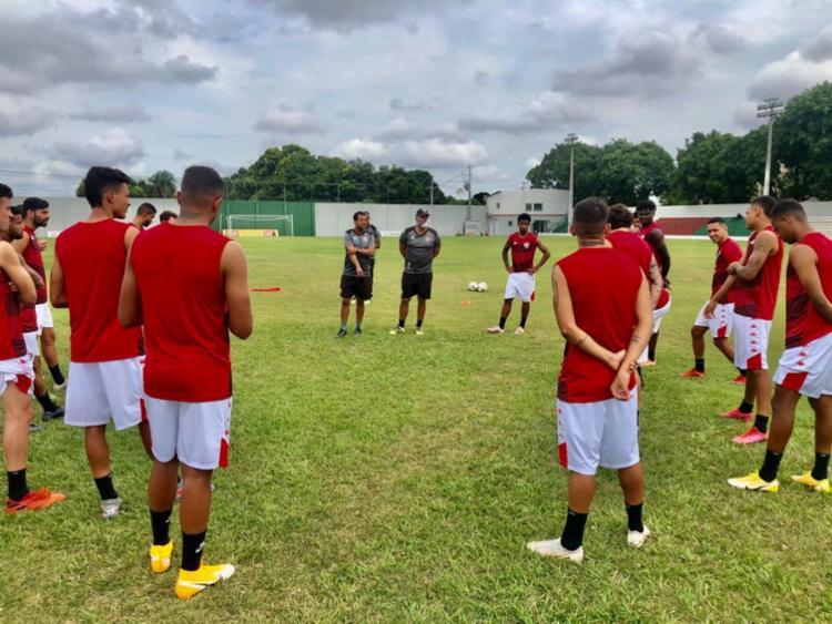 O treino desta tarde consistiu em um trabalho tático e exercícios de bola parada | Foto: Divulgação | EC Vitória - Foto: Divulgação | EC Vitória