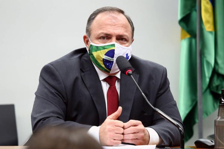 Pazuello voltou a chamar para o ministério a responsabilidade de organizar a imunização nacional - Foto: Divulgação
